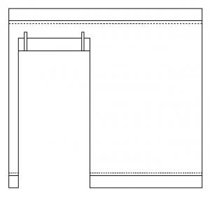 Seitenwand mit Türe